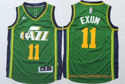 Youth Utah Jazz #11 Dante Exum Green Stitched NBA Adidas Swingman Jersey
