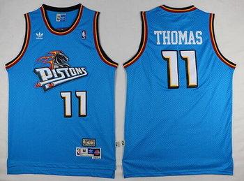Men's Detroit Pistons #11 Isiah Thomas Teal Green Hardwood Classics Soul Swingman Throwback Jersey