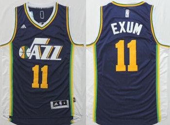 Utah Jazz #11 Dante Exum Revolution 30 Swingman New Navy Blue Jersey