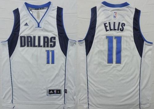 Men's Dallas Mavericks #11 Monta Ellis Revolution 30 Swingman 2014 New White Jersey