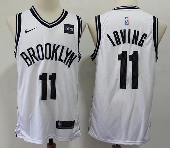 Men's Brooklyn Nets #11 Kyrie Irving White Nike Swingman Stitched NBA Jersey
