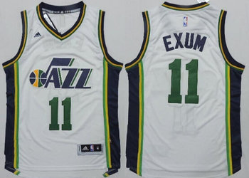 Utah Jazz #11 Dante Exum Revolution 30 Swingman New White Jersey