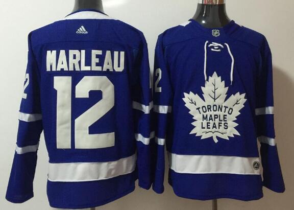 Men's Toronto Maple Leafs #12 Patrick Marleau Royal Blue Home 2017-2018 adidas Hockey Stitched NHL Jersey