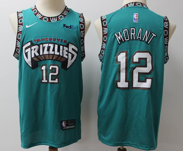 Men's Memphis Grizzlies #12 Ja Morant Green Retro 2019 Nike NBA Swingman Jersey