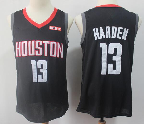 Men's Houston Rockets #13 James Harden Black Nike Swingman Stitched NBA Jersey