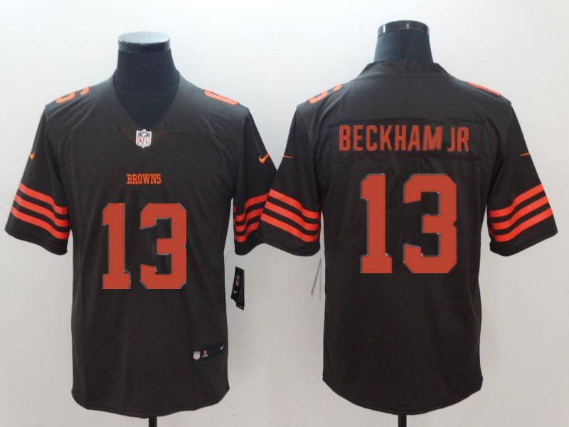 Men's Cleveland Browns #13 Odell Beckham Jr Brown Color Rush Stitched NFL Nike Limited Jersey