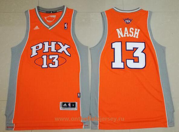 Men's Phoenix Suns #13 Steve Nash Orange Stitched NBA Adidas Revolution 30 Swingman Jersey