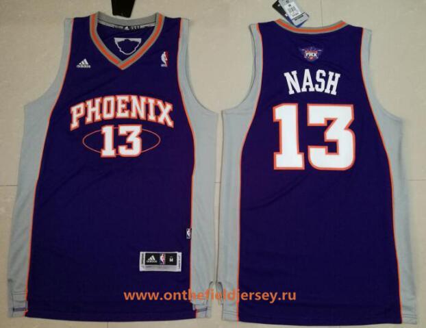 Men's Phoenix Suns #13 Steve Nash Purple Stitched NBA Adidas Revolution 30 Swingman Jersey