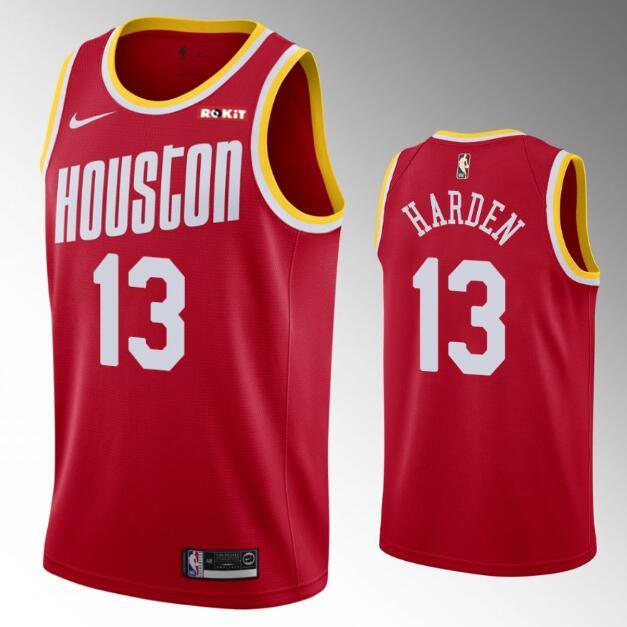 Men's Houston Rockets #13 James Harden 2019-20 Red Retro Nike Swingman Stitched NBA Jersey