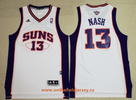 Men's Phoenix Suns #13 Steve Nash White Stitched NBA Adidas Revolution 30 Swingman Jersey