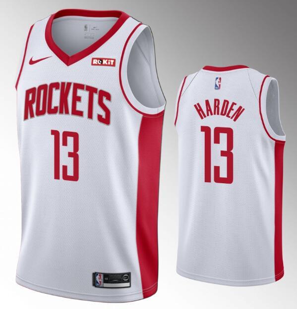 Men's Houston Rockets #13 James Harden 2019-20 White Nike Swingman Stitched NBA Jersey