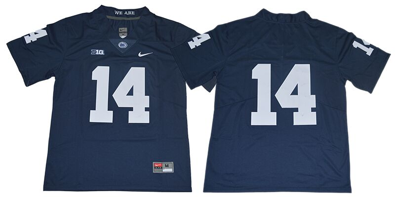 Men's Penn State Nittany Lions #14 Sean Clifford no name Navy Blue College Football Stitched Nike NCAA Jersey