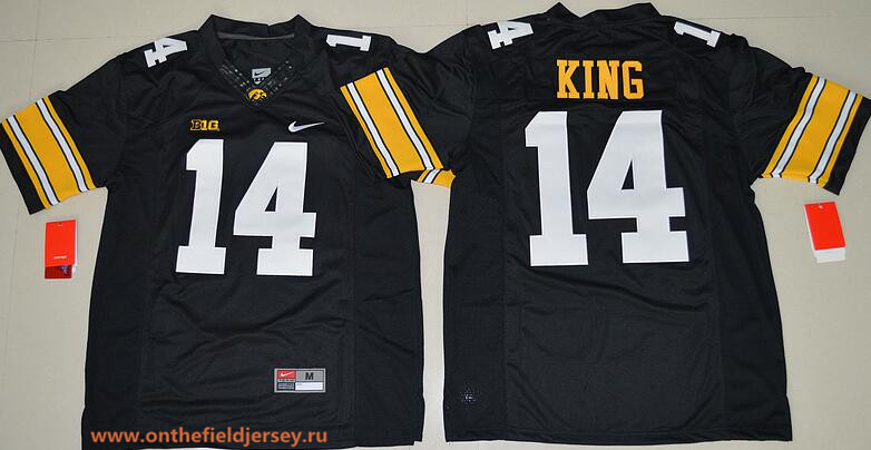Men's Iowa Hawkeyes #14 Desmond King Black Limited Stitched College Football Nike NCAA Jersey