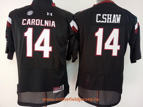 Women's South Carolina Gamecocks #14 Connor Shaw Black Stitched College Football Under Armour NCAA Jersey