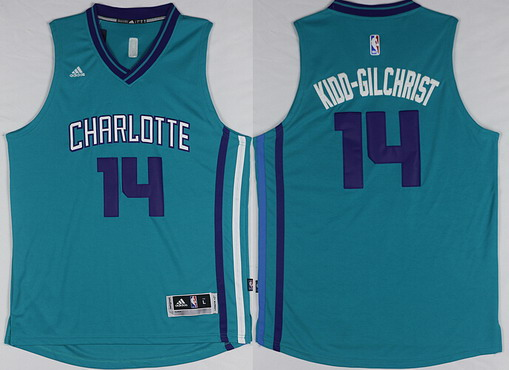 Charlotte Hornets #14 Michael Kidd-Gilchrist Revolution 30 Swingman 2015 New Teal Green Jersey