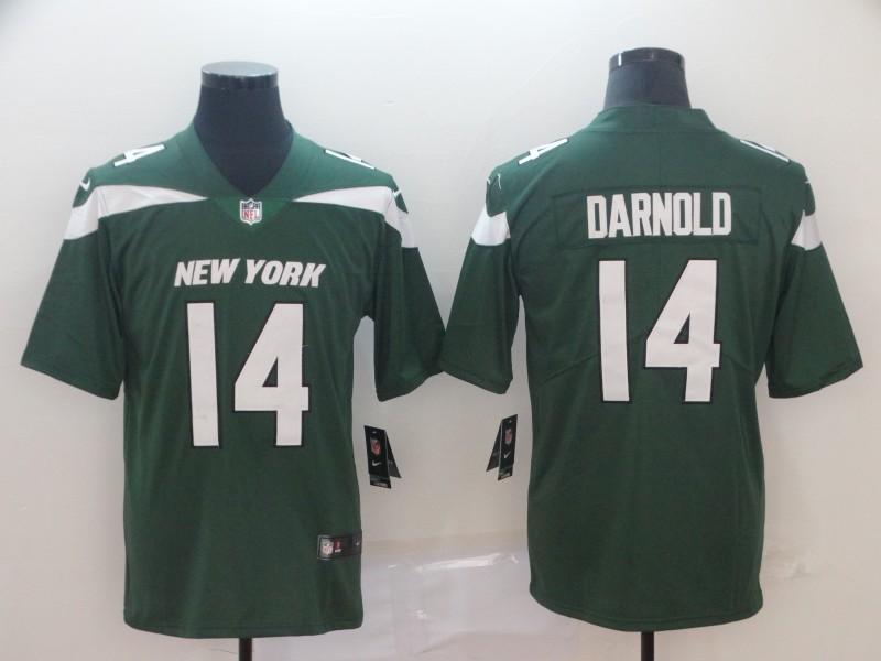 Men's New York Jets #14 Sam Darnold Green 2019 Vapor Untouchable Stitched NFL Nike Limited Jersey