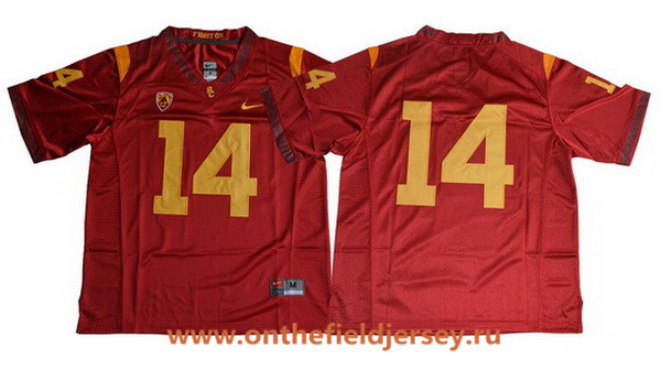 Men's USC Trojans #14 Sam Darnold No Name Red Limited College Football Stitched Nike NCAA Jersey