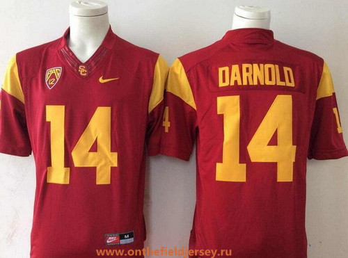 Men's USC Trojans #14 Sam Darnold Red Limited College Football Stitched Nike NCAA Jersey