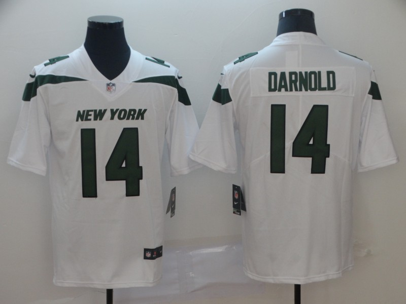 Men's New York Jets #14 Sam Darnold White 2019 Vapor Untouchable Stitched NFL Nike Limited JerseyJersey