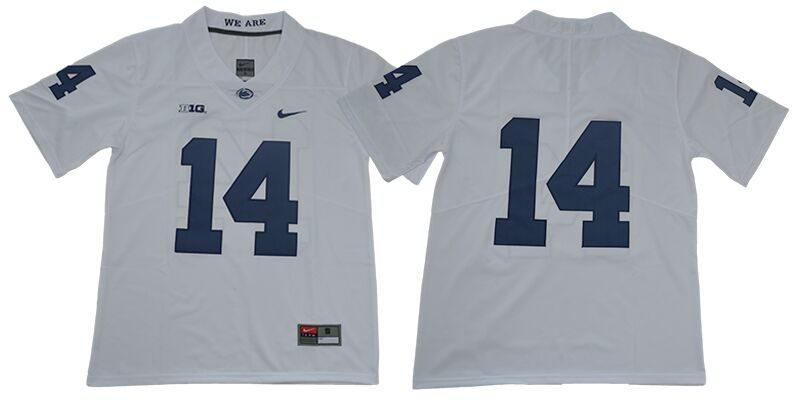 Men's Penn State Nittany Lions #14 Sean Clifford no name White College Football Stitched Nike NCAA Jersey