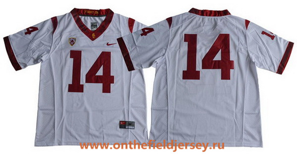 Men's USC Trojans #14 Sam Darnold No Name White Limited College Football Stitched Nike NCAA Jersey
