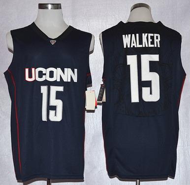 Men's Connecticut Huskies #15 Kemba Walker Navy Blue College Basketball Nike Jersey