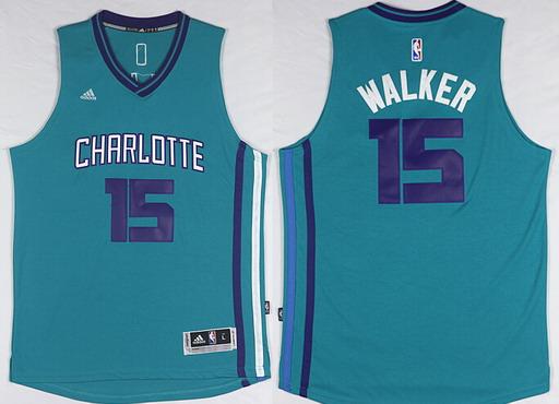 Charlotte Hornets #15 Kemba Walker Revolution 30 Swingman 2015 New Teal Green Jersey
