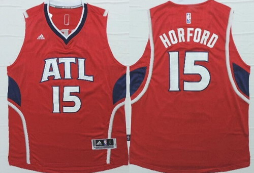 Men's Atlanta Hawks #15 Al Horford Revolution 30 Swingman 2014 New Red Jersey