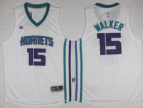 Charlotte Hornets #15 Kemba Walker Revolution 30 Swingman 2015 New White Jersey