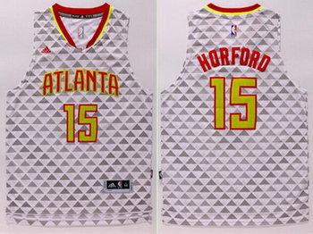 Men's Atlanta Hawks #15 Al Horford Revolution 30 Swingman 2015-16 New White Jersey
