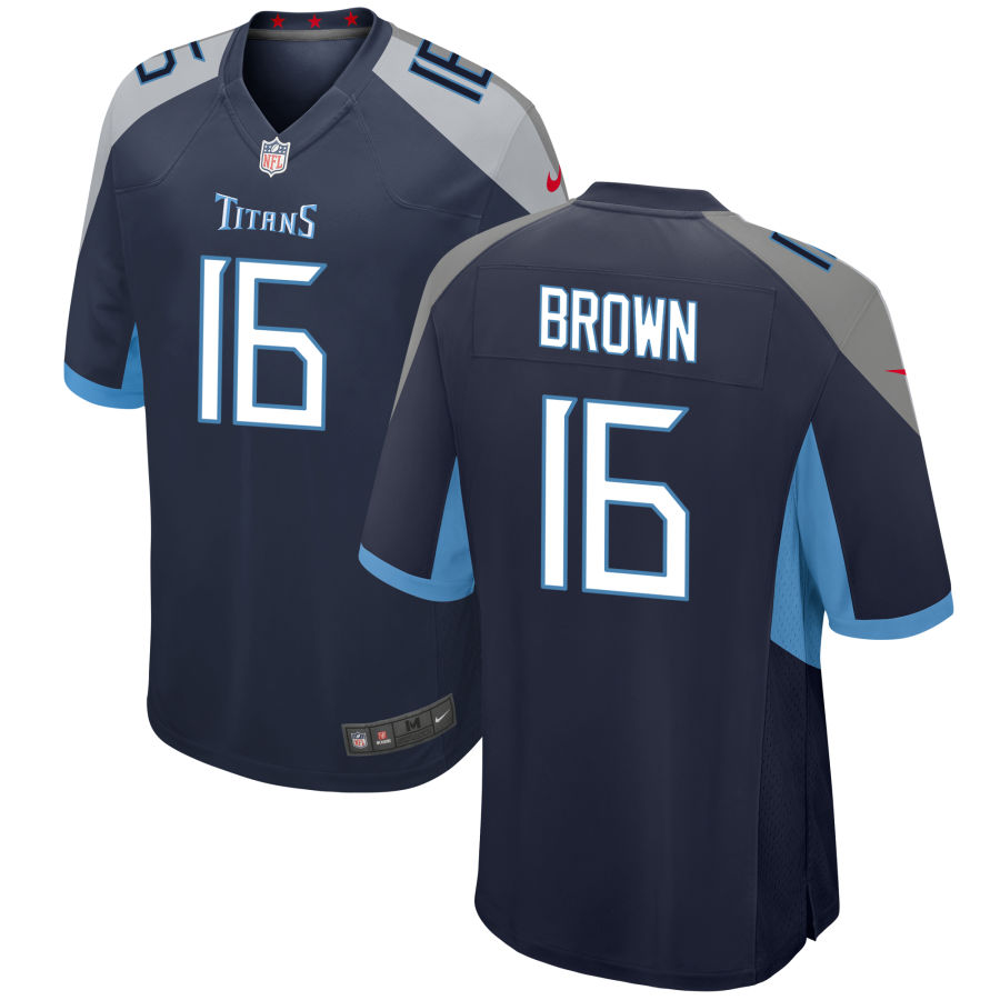 Men's Tennessee Titans #16 AJ Brown 2019 Navy Blue Stitched NFL Nike Game Jersey