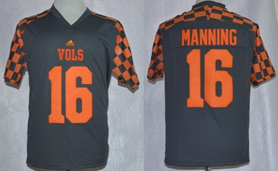 Tennessee Volunteers #16 Peyton Manning 2014 Gray Jersey