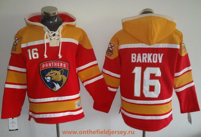 Men's Florida Panthers #16 Aleksander Barkov 2016-17 Red Stitched NHL Old Time Hockey Hoodie