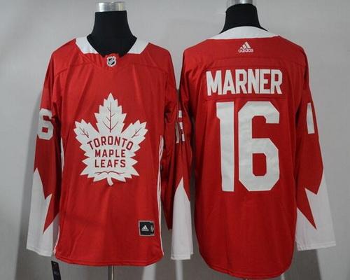 Men's Toronto Maple Leafs #16 Mitchell Marner Red 2017-2018 adidas Hockey Stitched NHL Jersey