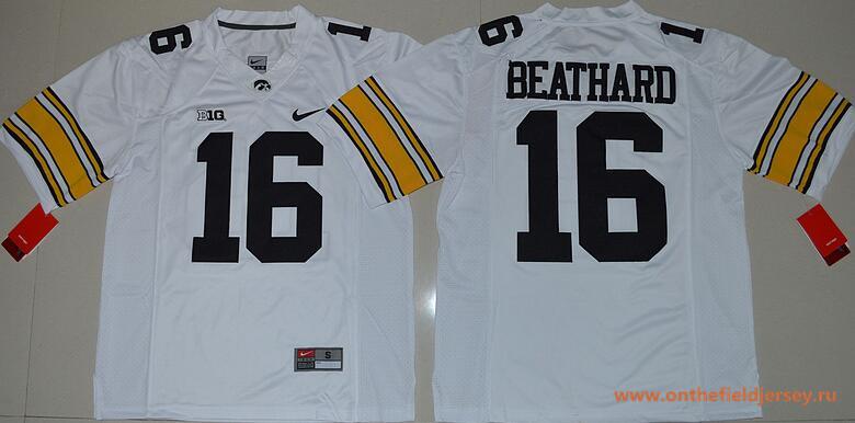 Men's Iowa Hawkeyes #16 C. J. Beathard White Limited Stitched College Football Nike NCAA Jersey