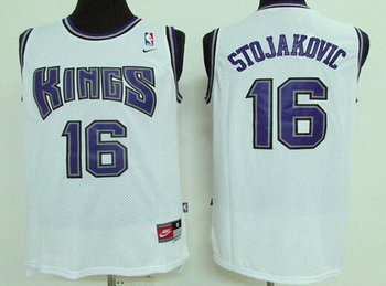 Men's Sacramento Kings #16 Peja Stojakovic White Soul Swingman Jersey