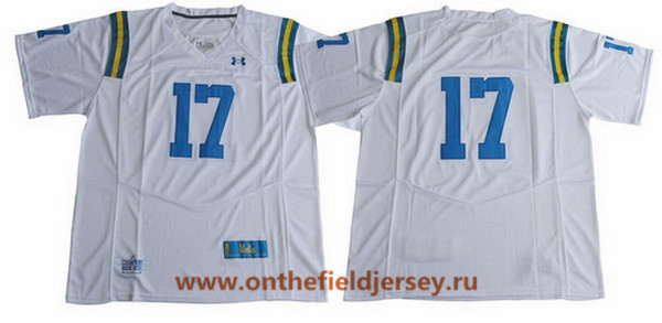 Men's UCLA Bruins #17 No Name White 2017 College Football Stitched Under Armour NCAA Jersey