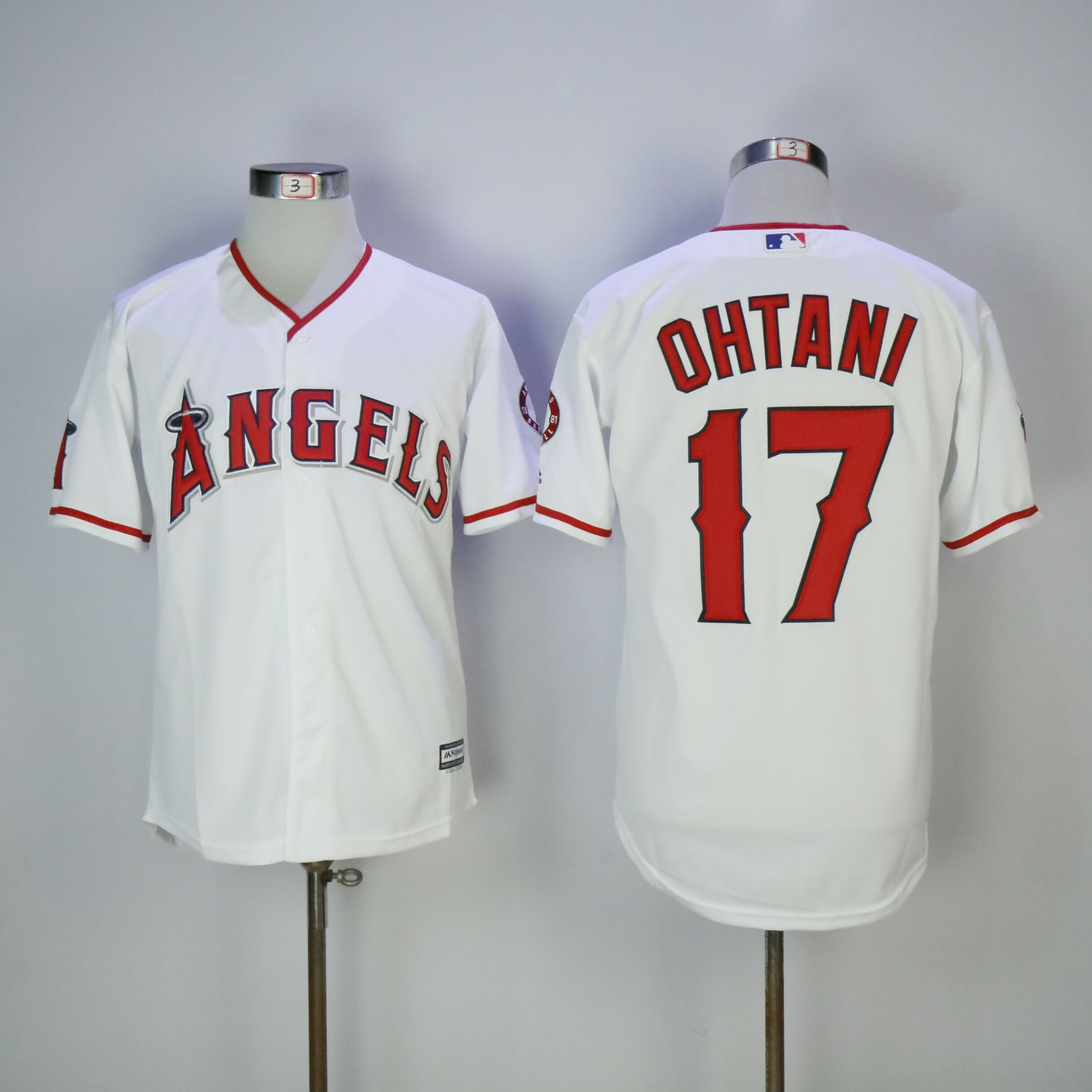 Men's Los Angeles Angels #17 Shohei Ohtani White Home Stitched MLB Majestic Cool Base Jersey