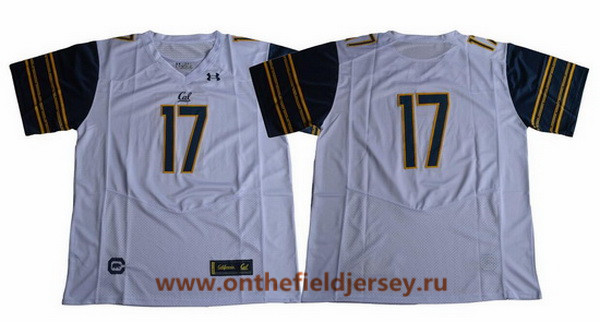 Men's California Golden Bears #17 No Name White 2017 Cal College Football Stitched Under Armour NCAA Jersey