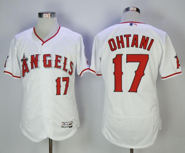 Men's Los Angeles Angels #17 Shohei Ohtani White Home Stitched MLB Majestic Flex Base Jersey