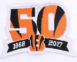1968-2017 Cincinnati Bengals 50th Anniversary Patch