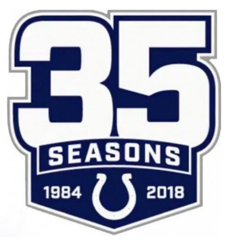 1984-2018 Indianapolis Colts 35th Anniversary Patch