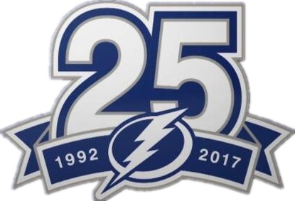 1992-2017 Tampa Bay Lightnings 20th Anniversary Jersey Patch
