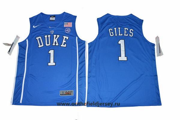 Men's Duke Blue Devils #1 Harry Giles Royal Blue College Basketball Nike Swingman Stitched 2017 NCAA Jersey