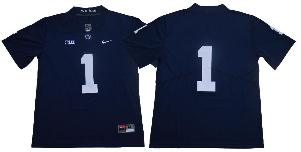Men's Penn State Nittany Lions #1 KJ Hamler no name Navy Blue College Football Stitched Nike NCAA Jersey