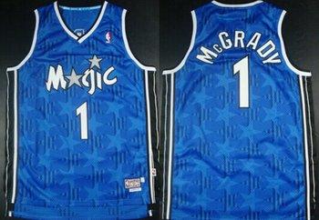 Orlando Magic #1 Tracy McGrady Blue All-Star Hardwood Classics Soul Swingman Throwback Jersey