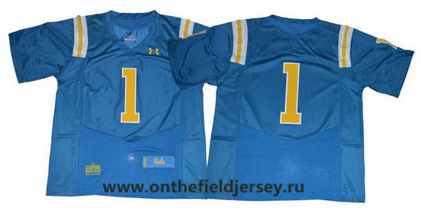 Men's UCLA Bruins #1 No Name Light Blue 2017 College Football Stitched Under Armour NCAA Jersey