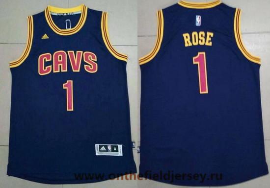 Men's Cleveland Cavaliers #1 Derrick Rose Navy Blue Stitched NBA Adidas Revolution 30 Swingman Jersey