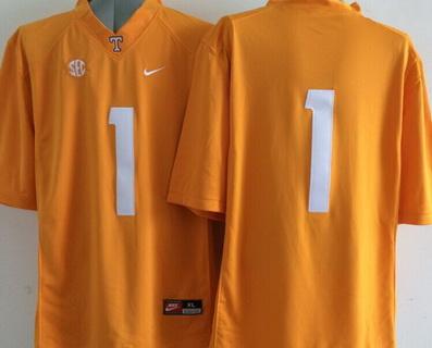 Men's Tennessee Volunteers #1 Orange 2015 College Football adidas Jersey