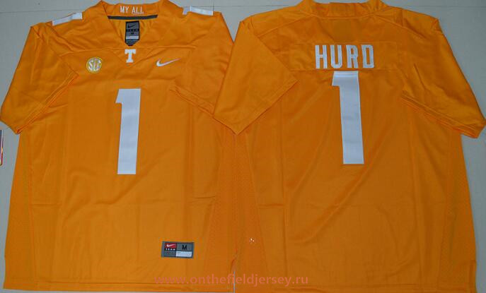 Men's Tennessee Volunteers #1 Jalen Hurd Orange Stitched College Football Nike NCAA Jersey